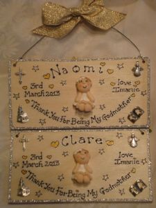 3d Personalised Christening Baby Sign Boy or Girl Unique Keepsake Gift Plaque Handmade Any Phrasing